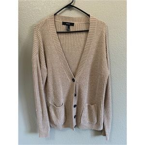 FOREVER 21 - Tan knit cardigan size M